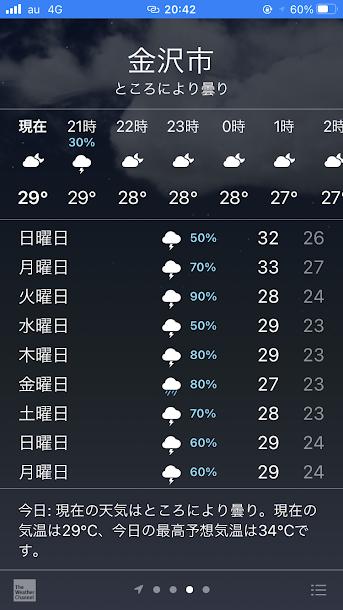 天気予報 アプリ